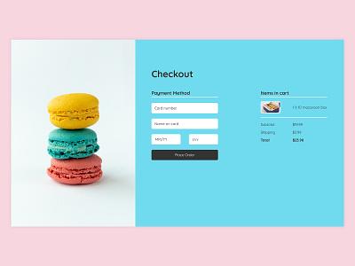 DailyUI 02 - Cookie shop checkout form 100days ui day2 checkout figma design