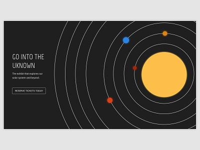DailyUI Day 3 - Planetarium Landing Page design adobe illustrator dailyui 003 dailyuichallenge daily ui dailyui