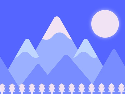 peaceful landscape dribbbleweeklywarmup design adobe illustrator landscape illustration