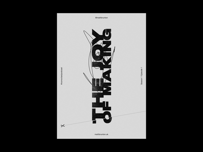 The Joy of Making graphic design typography poster