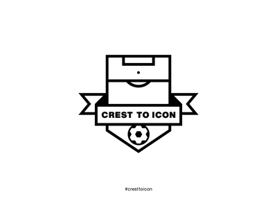 Crest to Icon identity design brand identity shield badge soccer football cresttoicon