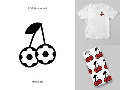 A.F.C. BOURNEMOUTH sports logo icon crest identity design brand identity badge soccer football epl premier league cresttoicon cherries afcb afcbournemouth bournemouth