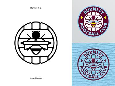 BURNLEY F.C. sports logo icon crest identity design brand identity badge soccer football epl premier league cresttoicon burnley football club burnley