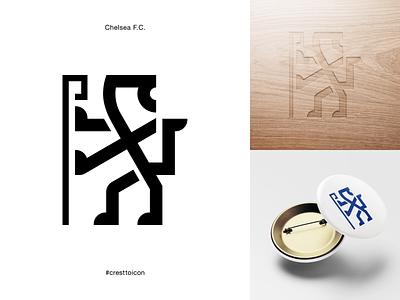 CHELSEA F.C. sports logo icon crest identity design brand identity badge soccer football epl premier league cresttoicon london chelsea football club chelsea fc chelsea