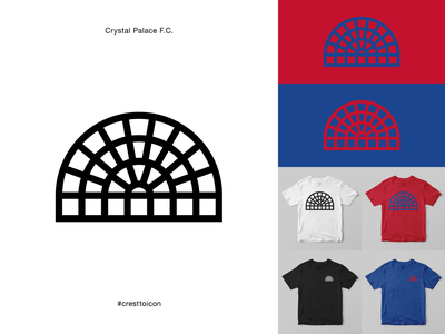 CRYSTAL PALACE F.C. graphic design sports logo icon crest identity design brand identity badge soccer football epl premier league cresttoicon london palace cpfc crystal palace