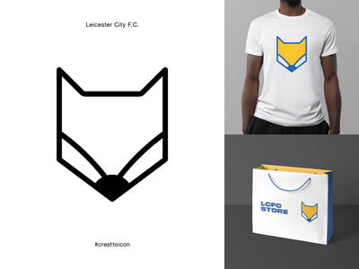 LEICESTER CITY F.C. fox sports logo icon crest identity design brand identity badge soccer football epl premier league cresttoicon lcfc leicester city leicester
