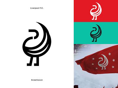 LIVERPOOL F.C. graphic design sports logo icon crest identity design brand identity badge soccer football epl premier league cresttoicon liver bird lfc liverpool football club liverpool