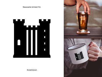 NEWCASTLE UNITED F.C. identity branding logo icon crest badge soccer football premier league cresttoicon castle newcastle nufc newcastle united