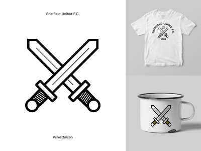 SHEFFIELD UNITED F.C. identity branding logo icon crest badge soccer football premier league cresttoicon sword blades yorkshire sufc sheffield united