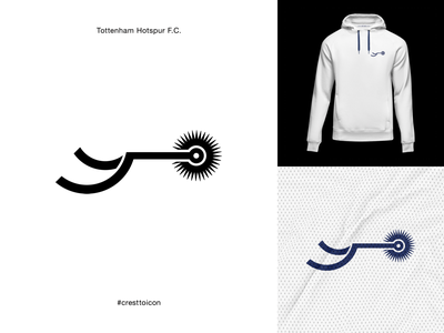 TOTTENHAM HOTSPUR F.C. identity branding logo icon crest badge soccer football premier league cresttoicon spurs tottenham hotspur
