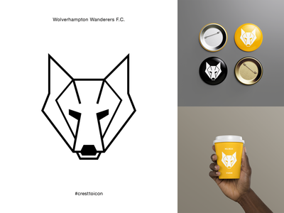 WOLVERHAMPTON WANDERERS F.C. identity branding logo icon crest badge soccer football premier league cresttoicon wolf wolves wolverhampton