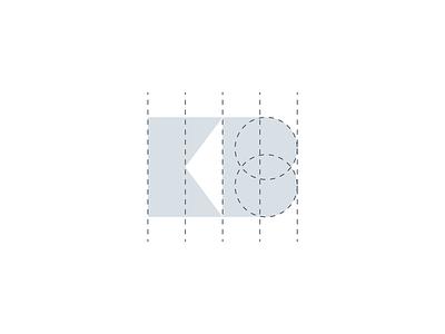 KB monogram icon geometry identity design branding geometry monogram logo icon