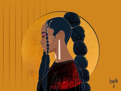 Gold gold foil female designers female character illustration vector design