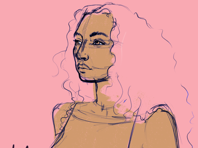 sketch female portrait illustration female designers female character design