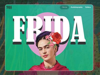 Frida | Landing Web Page web illustration ui minimal design