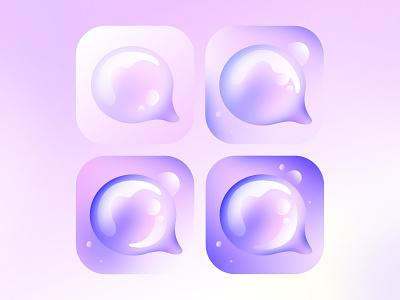 App icon progress (just for fun) progress icons bubble speech messenger fluid vector app icon