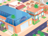 Grocery Store & Steak House / Vector Tropics