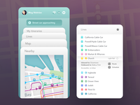 Transportation app screens