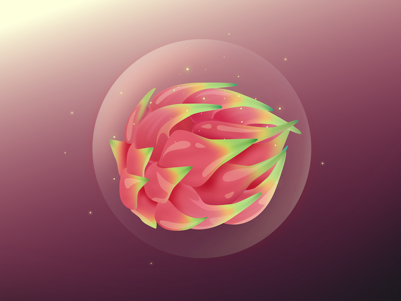 Glossy Dragon Fruit game item item speed drawing video bubble tropical vector game art game dragon fruit fruit
