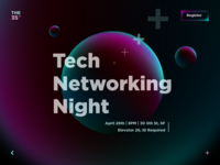 Event Screen illustrator xd adobexd vector branding minimal neon interface uiux desktop page event tech dark abstract bubble