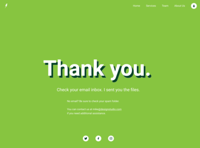 Day 77 - Thank You userinterface design uiux uidesign email website typogaphy dailyui77 greeting thanks