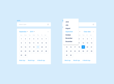 Day 80 - Date Picker userinterface uiux ui schedule mobile design date dailyui080 dailyui calendar