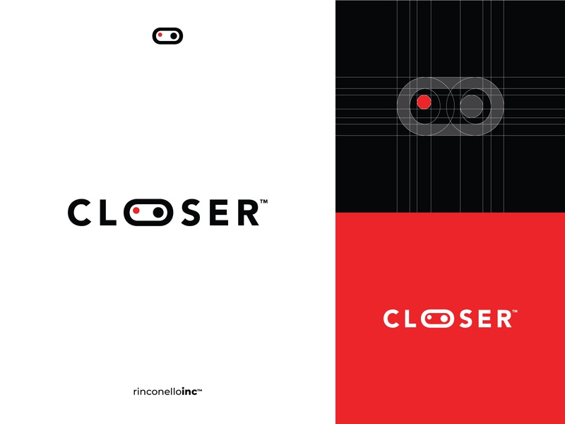 Closer icon grid black red circle logo o inspiration clean brands gráfico design logos instagram diseñador designer challenge closer branding