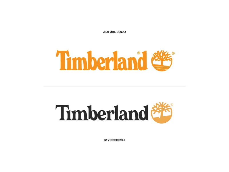 Timberland Rebranding (Before & After) boot colors identity design concept rebranding redesign tree mountains timberland identity icon clean instagram diseñador designer design brands logos logo branding