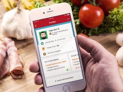 Yemeksepeti Gamification - Profil Page product meal food ios profile mayor gamification ux ui yemeksepeti