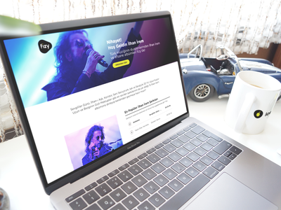 fizy Landing Page desktop music fizy landing ux ui web