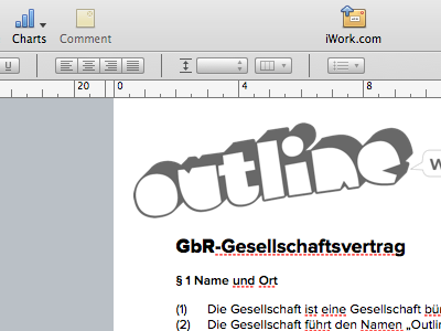 Designing our Memorandum of association for Outline