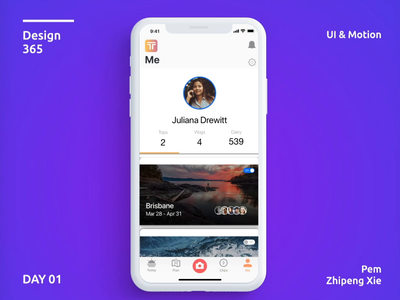 Day 1 -Simple Tabbed Navigation #Design365 prd prototype iphonex iosdesign design ui.ux.cafe uigradient sketchapp uxdesigner uidesign uxdesign appdesign userexperience userinterface uxdaily iosapps app animation ux ui