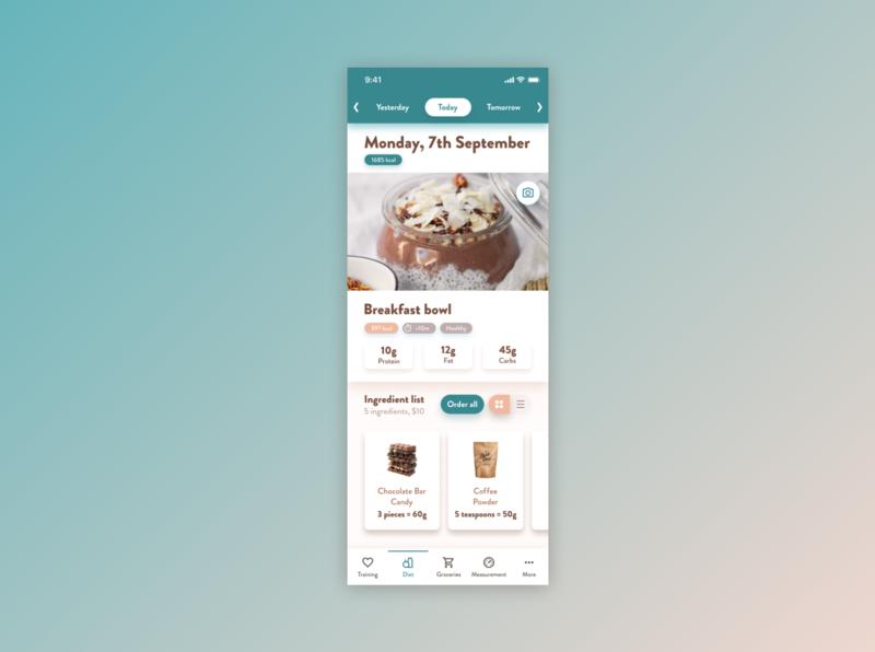 Foody App Shot design ui