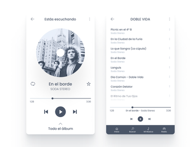 Music Player App player rock sodastereo design figma music ui ux daily ui