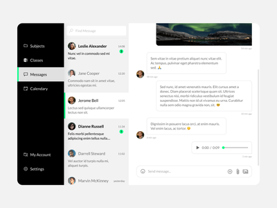 Direct Messaging UI daily ui classroom figma learning desktop message ui ux ui