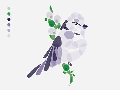 For The Birds: Day 01 delmy alvarenga illustration bird