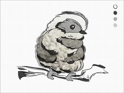 For the Birds: Days 05 illustration bird
