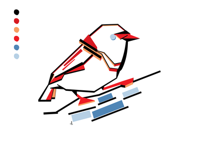 For the Birds: Day 07 illustration bird