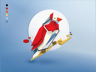 For the Birds: Day 08 russian suprematism constructivism illustration bird