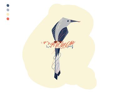 For the Birds: Day 10 illustration bird