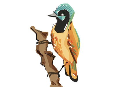 Daugther iphone paper bird illustration