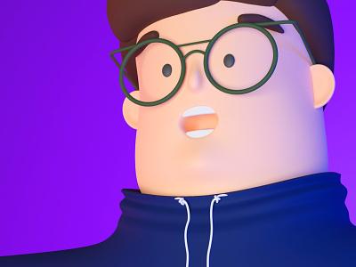 3D Blender character blender3d illustration design 3d blender