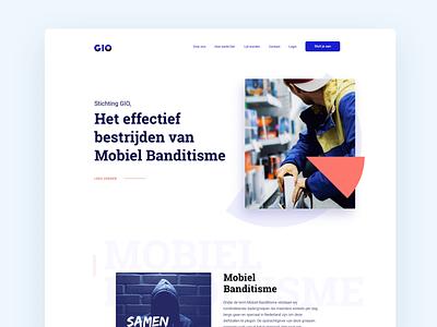 Project GIO website flat animation clean landingpage web minimal website design ux ui