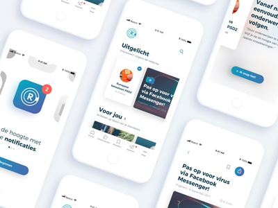 Radar app ios mobile clean app minimal design ux ui