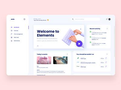 EMIS dashboard concept minimal illustration clean app web website design ux ui
