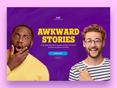 Tele2 Awkward Stories campaign animation concept campaign web minimal website design ux ui