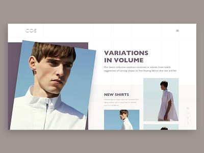 Cos website detailview ux ui website web fashion flat minimal sketch grid landingpage
