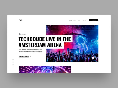 Dance organisation website music grid landingpage sketch minimal flat web website design ui ux