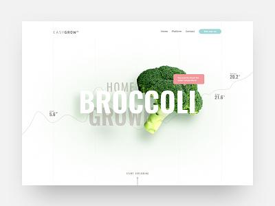 Easygrow landingpage grid landingpage sketch minimal web website design ui ux