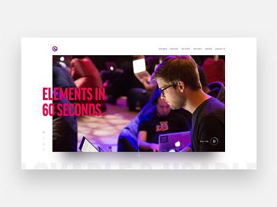 Elements Site Experiment grid landingpage sketch minimal web website design ui ux